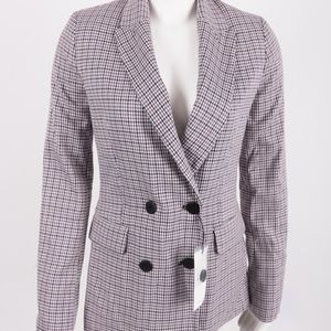 Bershka Plaid Purple Blazer Jacket Houndsooth Zara